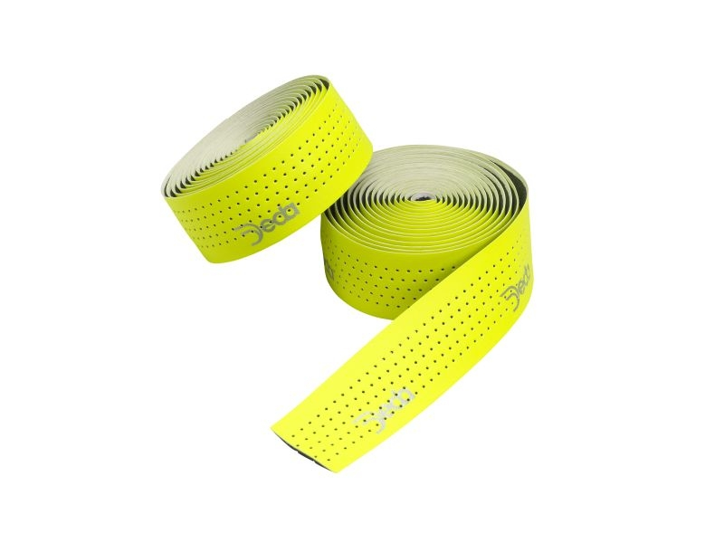 Deda Elementi MISTRAL - FLUO GEEL - Geperforeerd leather feel Stuurlint