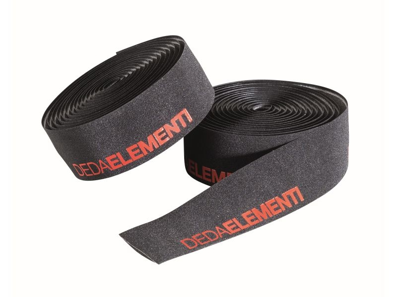 Deda Elementi SQUALO - ZWART/ROOD - Extra Grip Stuurlint