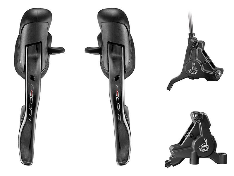 Campagnolo RECORD DISC - 12s Ergopower - set incl remklauwen