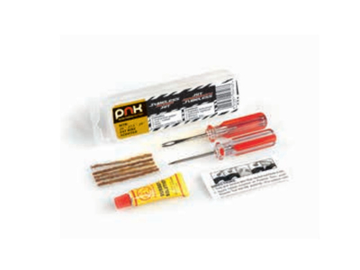 SPECIAL REPAIR KIT FOR TUBELESS. 5 seal / rubber, 2 tools, 1