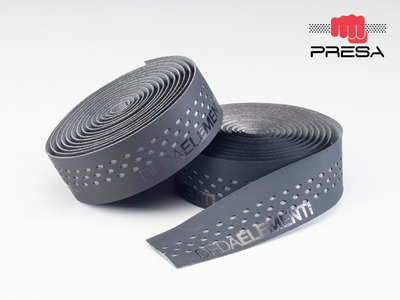 PRESA TAPE , NASTRO, BLACK/GREY,  double layer, perforated
