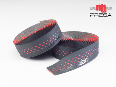 PRESA TAPE , NASTRO, BLACK/RED, double layer, perforated