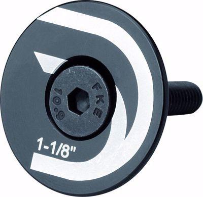 """FLAT TOP CAP, for 1 1/8"""" headset, Black, Deda laser etched l"""