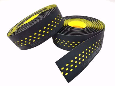 PRESA TAPE, NASTRO BLACK /YELLOW, double layer, perforated