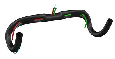 Deda Elementi SUPERZERO DCR Carbon aero h-bar, 31.7, 40cm, POB finish, w/D