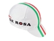 351 - White cap with italian flag - De Rosa 2016