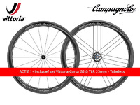 ACTIE ! - BORA WTO - 45 - BRIGHT - Wielset incl Vitorria Corsa G2.0