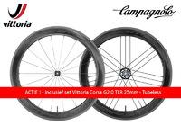 ACTIE ! - BORA WTO - 60 - DARK - Wielset incl Vittoria Corsa G2.0 tubeless