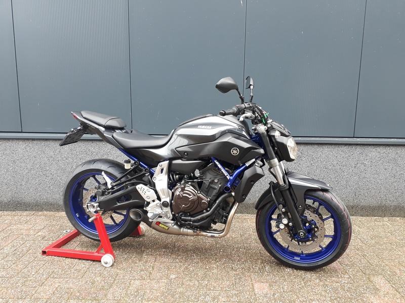 VERKOCHT.....Yamaha MT-07 grey  2014  (a2 / 35kw geschikt)