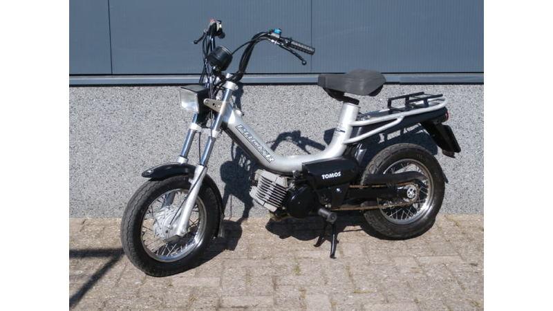 VERKOCHT..... Tomos Pack'r 25 km/h zilver