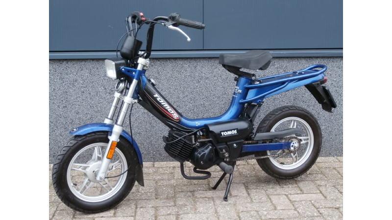 VERKOCHT....Tomos Pack'r 25 km/h Blauw