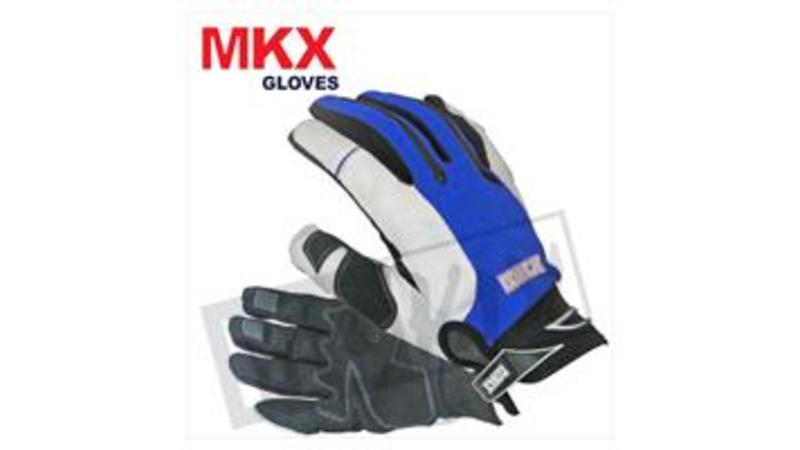 MokixCrosshandschoenen Blauw-Wit