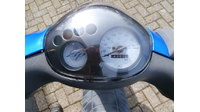 VERKOCHT.....Piaggio Zip 4-takt Blauw 25 km/h