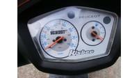 VERKOCHT....Peugeot Kisbee zwart-oranje 25 km/h 2013