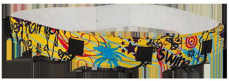 Superrun start Nummerband met gel lusjes geel