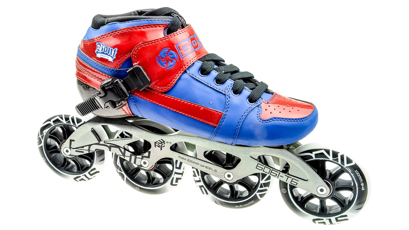 Pursuit Skate Blauw/Rood 4x100mm