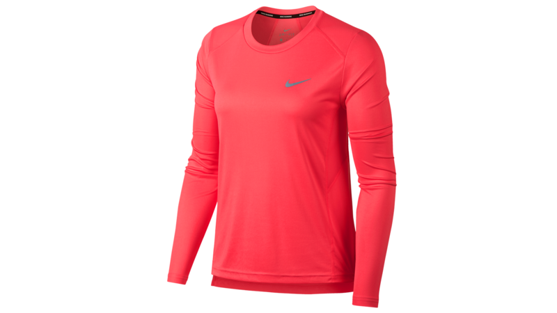 Women's Dry Miler running top [coral sea]