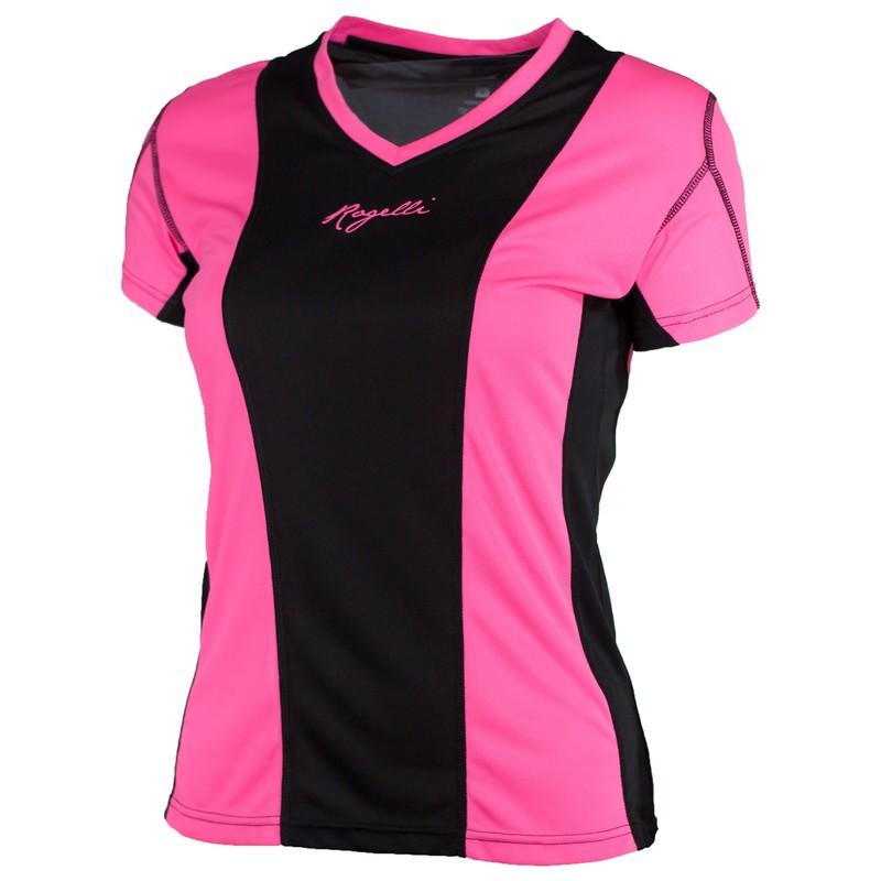 Rogelli Simra Running T-shirt Dames Roze/zwart