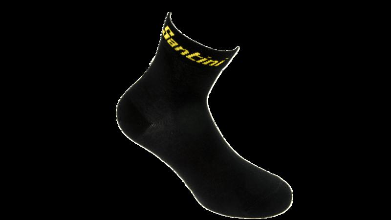 Santini Fietssokken Zwart\Geel
