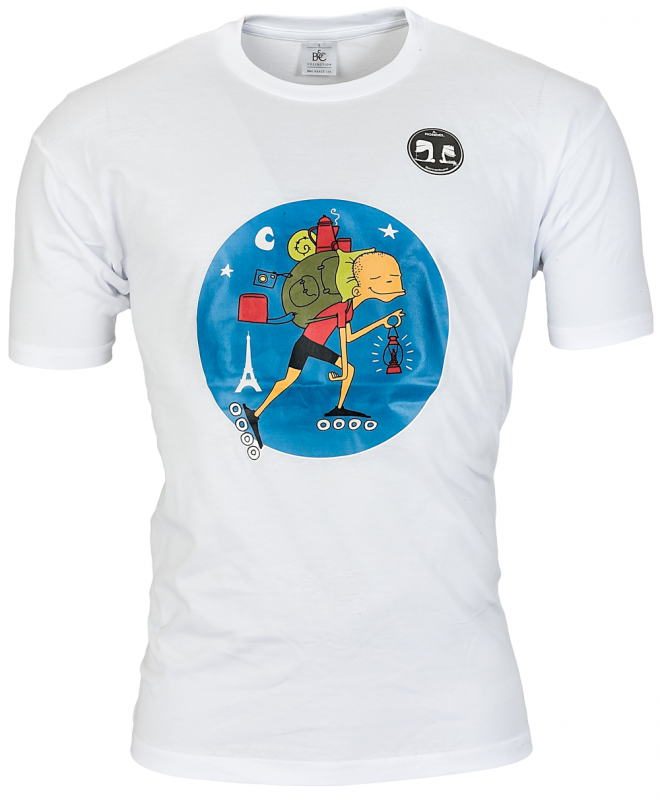 Skylar T- shirt Backpacker wit