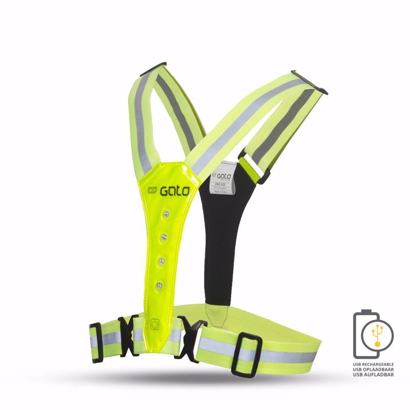 Gato USB Led Safer Sport Vest Neon Yellow