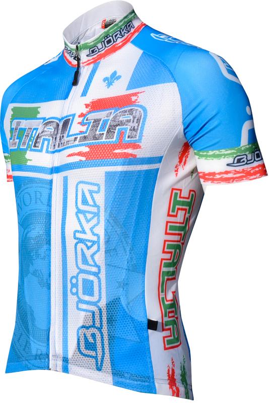 Bjorka Maillot World Italie Blauw
