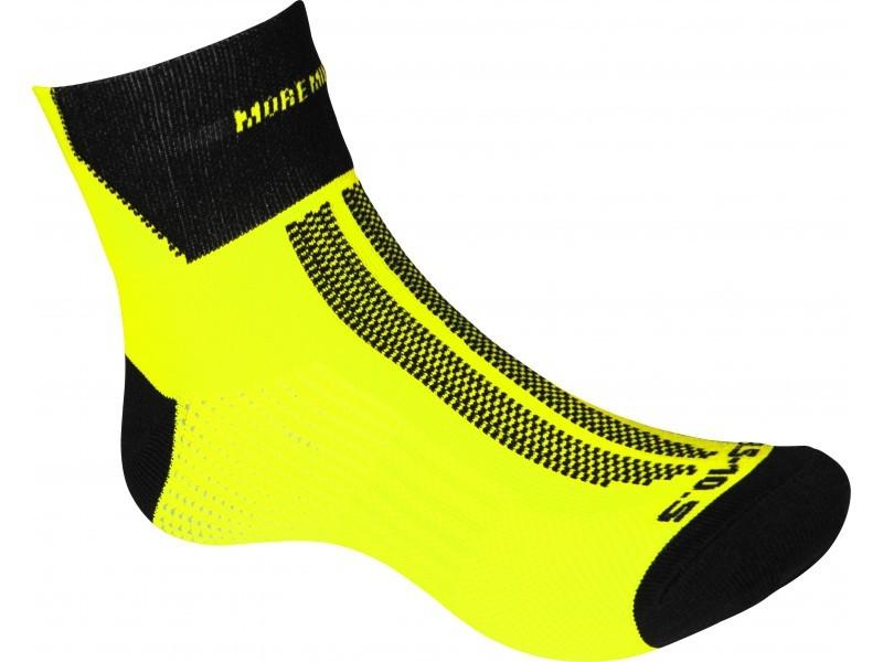 More Mile fluo geel lumino lite sokken