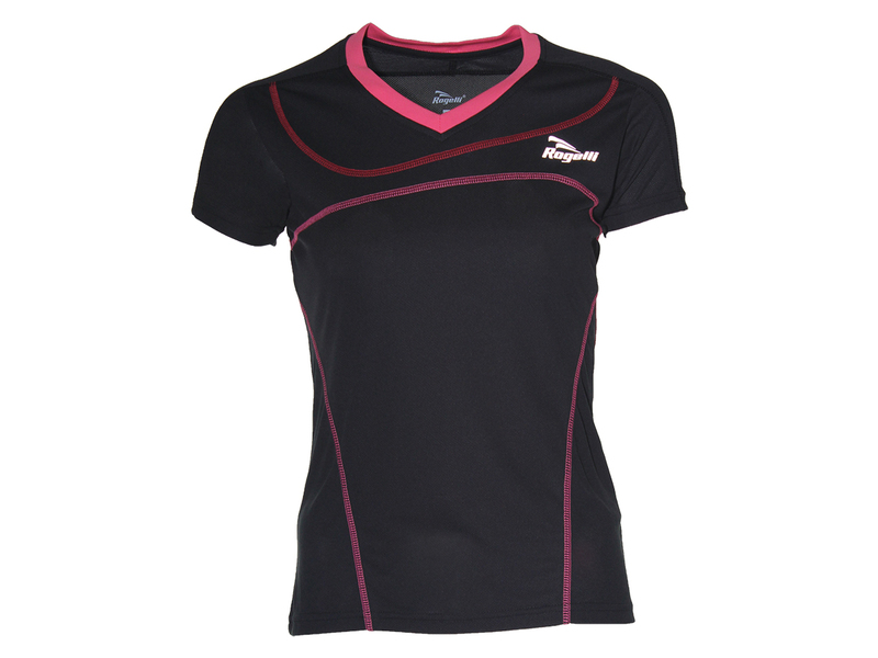 Rogelli Miral Running T-shirt Dames Black/Rose