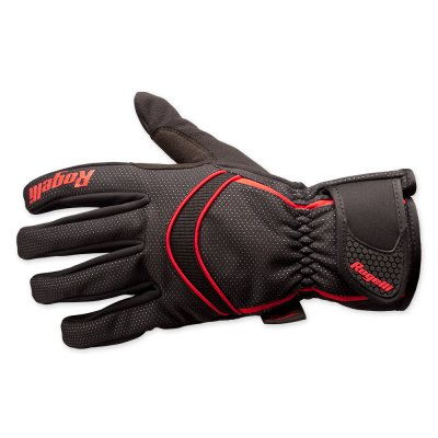 Winter gloves Whitby black red handschoen