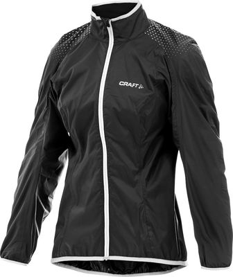 Active Bike Light Rain Jacket Black/White Femme