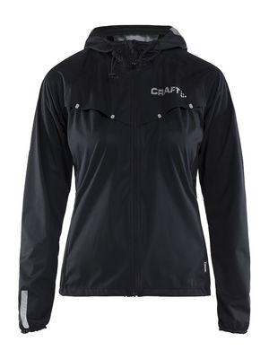 Repel Jacket Women Black Silver Reflective