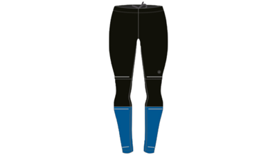 Men's Lite-show running tights [performance black/raceblue]