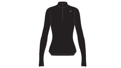 Women's Silver LS 1/2 zip winter top [performance black]