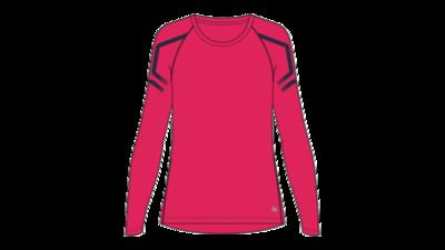 Women's Icon LS 1/2 zip top [pixel pink/peacoat]