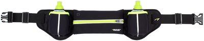 Hardloopbelt met 2 drinkflessen Geel/Groen Fluor
