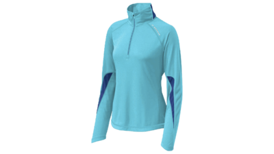Women's Essential Run long sleeve halfzip [aquarius/midnight]