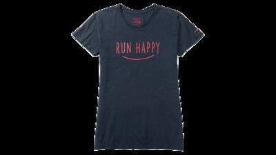 Women's tee Run Happy Smile [midnight]