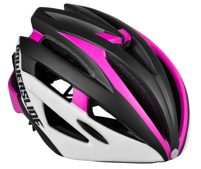 Race Attack helm wit/roze