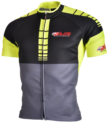 Time-out wielershirt km Yellow/Black