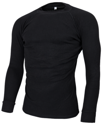 Thermoshirt Heren Zwart (lange mouw) 723