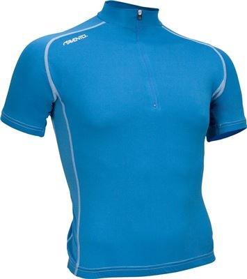 wielershirt korte mouw azuurblauw