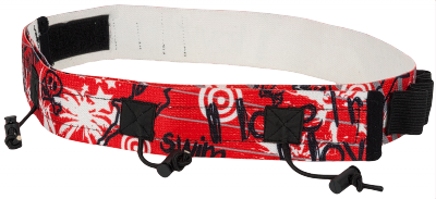 Race numberbelt with 6 loops for gel. Red