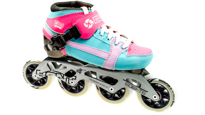 Pursuit Skate Fluor Pink/Light Blue Skate Kids 84mm