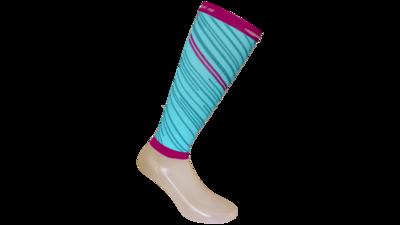 Unisex Fanatic Calfe sleeve [turquoise/fuchsia]