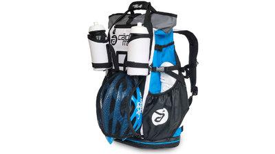 Versatile fiets en triathlon sporttas/rugtas - blauw/wit