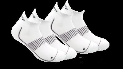 Cool Training shaftless sock 2-pack white