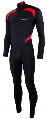 Thermo suit colorblock black/red