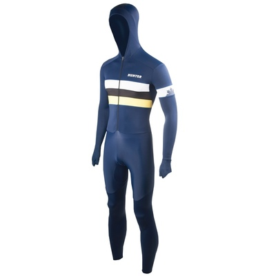 Speedsuit RTR lycra met cap Retro Navy-yellow 25402