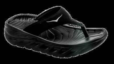 Women's Ora recovery flip - herstel slippers - black / dark gull gray