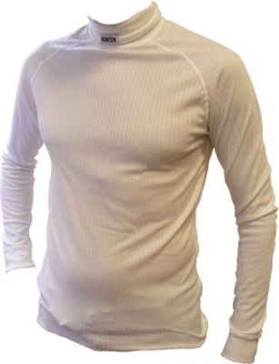 Shirt lange mouw col wit